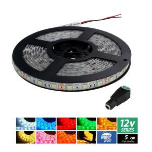 【ハイクオリティ】防水 LEDインテリアテープライト 3チップ 単体 (100V/12V兼用) 5cm|kaito-shop2011