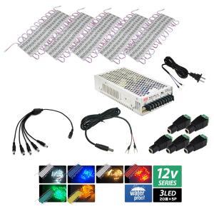 HQ3チップ LEDモジュール12V 3LED 20連【アダプタセット:5本分岐】 kaito-shop2011