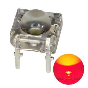 Kaito3229(1000個) LED SUPER FLUX 5mm 赤色 2000〜2500mcd アノードコモン kaito-shop