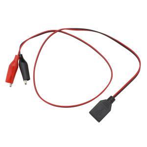 6059(1個) USB メス (5V)+みのむしクリップ付きケーブル 60cm|kaito-shop