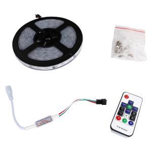6713(1式) 流れる [フルカラー/RGB] 5050 LEDテープライト 防水 200cm 12V RFリモコン付き|kaito-shop