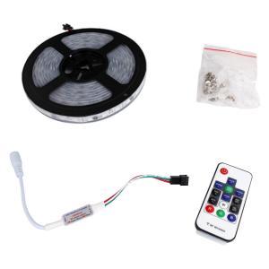 6715(1式) 流れる [フルカラー/RGB] 5050 LEDテープライト 防水 300cm 12V RFリモコン付き|kaito-shop