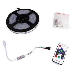 6719(1式) 流れる [フルカラー/RGB] 5050 LEDテープライト 防水 500cm 12V RFリモコン付き|kaito-shop