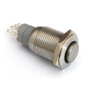 Kaito7766(1個) 黄色 丸形ロック付DCプッシュスイッチ On-On+ランプ Φ18(Φ16)mm|kaito-shop