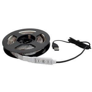 Kaito7848 (1個) USB 防水 LEDテープライト RGB[多色発光] 3チップ 1m 調光器付き DC5V|kaito-shop