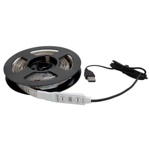 Kaito7848 (10個) USB 防水 LEDテープライト RGB[多色発光] 3チップ 1m 調光器付き DC5V|kaito-shop