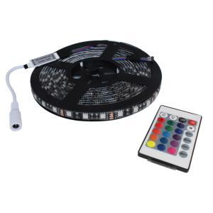超安12V(1本) 防水LEDテープライト フルカラー(RGB) 3チップ 300cm [黒ベース]|kaito-shop