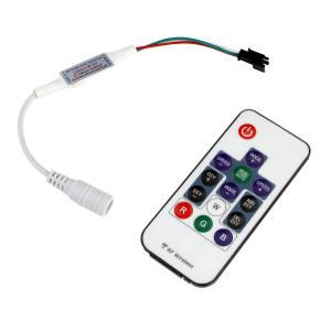 9390(1式) 流れるフルカラー (12V) インテリアLEDテープライト用 RFリモコン付き コントローラ(3極/14キー)|kaito-shop