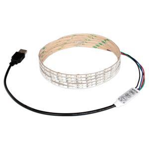 USB 流れるLEDテープライト 防水[1206 SMD] 白ベース 250cm DC5V コントローラ一体型|kaito-shop