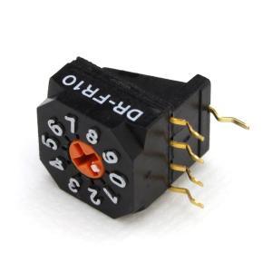 [s148] DR-FR10H NKK Switch ロータリーディップスイッチ (10個)|kaito-shop