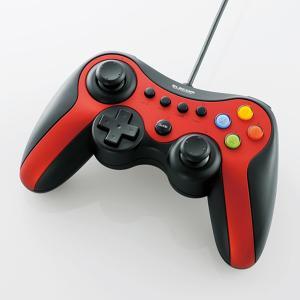 【訳あり】【送料無料】【中古】PC 13ボタンゲームパッド(レッド) [JC-U3613MRD] エレコム コントローラー kaitoriheroes2