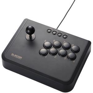 【送料無料】【中古】PS3 プレイステーション 3 ELECOM アーケードスティック USB接続 2軸10ボタン ブラック JC-AS01BK コントローラー(箱付き)|kaitoriheroes2