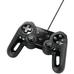【送料無料】【中古】PC エレコム USB ゲームパッド 13ボタン Xinput 振動 連射 高耐久 ブラック JC-U4013SBK kaitoriheroes2