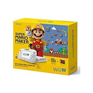【訳あり】【送料無料】【中古】Wii U スーパーマリオメーカー セット 本体