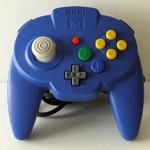 【送料無料】【中古】N64 任天堂64 ホリパッドミニ64 ブルー コントローラー 本体|kaitoriheroes