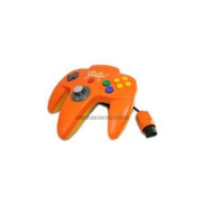 【送料無料】【中古】N64 任天堂64 コントローラーBros.ピカチュウ N64コントローラ オレンジ N64|kaitoriheroes