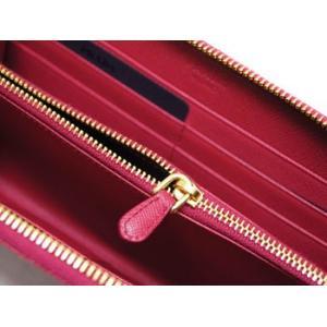 プラダ 財布 ラウンドジップ長財布 サッフィアーノ IBISCO イビスコ カーフダークピンク ゴールドロゴ 1M0506 アウトレット|kaitsukedoh|05