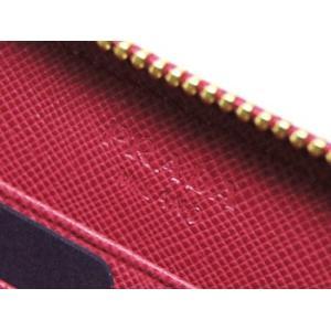 プラダ 財布 ラウンドジップ長財布 サッフィアーノ IBISCO イビスコ カーフダークピンク ゴールドロゴ 1M0506 アウトレット|kaitsukedoh|06