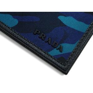プラダ 財布 2MO513 メンズ 二つ折り 札入れ テッスート カモフラージュ ROYAL ナイロンロイヤルブルー カーフブラック アウトレット|kaitsukedoh|05