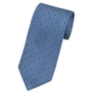 グッチ ネクタイ 388117-4869 GUCCI メンズ プリント キーホルダーパーツ デザイン シルク100% ブルー/ライトブルー|kaitsukedoh