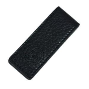 グッチ 財布 406768-1000 GUCCI メンズ マネークリップ ソーホー 型押しカーフ ブラック|kaitsukedoh