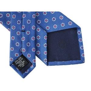 CHANEL シャネル ネクタイ メンズ ジャガード CC フラワーデザイン ブルー/レッド シルク100% A51726|kaitsukedoh|05