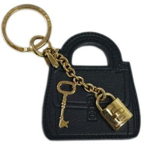 【わけあり】ドルチェ&ガッバーナ キーリング BI0545 DOLCE&GABBANA キーホルダー バッグモチーフ+パドロック カーフブラック ゴールド金具 わけあり|kaitsukedoh
