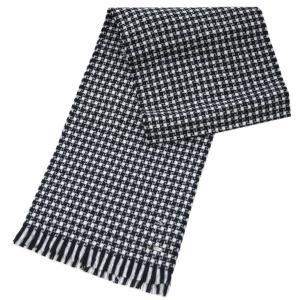 ヒューゴ・ボス マフラー HUGO BOSS ボス メンズ  ウール100% ブラック/グレー/ホワイト 17103 アウトレット|kaitsukedoh