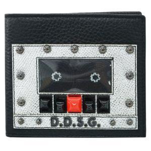 ドルチェ&ガッバーナ 財布 BP1321 DOLCE&GABBANA メンズ 二つ折り 札入れ D.D.S.G. スタッズ 型押しカーフ ブラック アウトレット kaitsukedoh