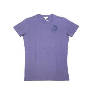 ディーゼル Tシャツ メンズ 半袖 丸首 ブレイブマン フロッキープリント パープル Mサイズ 11923|kaitsukedoh
