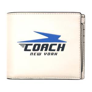 コーチ 財布 F73099-QBCAH COACH メンズ 二つ折り 札入れ 取り外しカードケース 3-IN-1 ウォレット ウィズ ビンテージ コーチ モチーフ チョークマルチ|kaitsukedoh