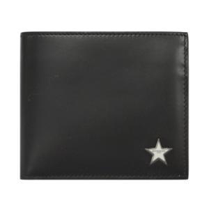 ジバンシィ 財布 GIVENCHY メンズ 二つ折り 小銭入れ付き スタープレート レザー ブラック/ホワイト 02304 ジバンシー アウトレット|kaitsukedoh