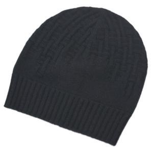 エルメス 帽子 H172005N02 HERMES ソルド メンズ ニットキャップ PACO カシミア100% H ENTREMELES NOIR ノワール ブラック Sサイズ|kaitsukedoh