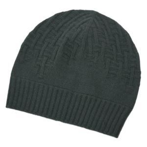 エルメス 帽子 H172005N09 HERMES ソルド メンズ ニットキャップ PACO カシミア100% H ENTREMELES VERT DE GRIS ダークグリーン|kaitsukedoh
