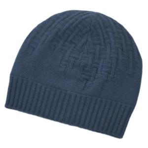 エルメス 帽子 H172005N72 HERMES ソルド メンズ ニットキャップ PACO カシミア100% H ENTREMELES BLUE PILOTE ダークブルー|kaitsukedoh