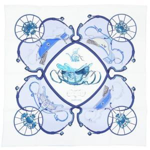 【わけあり】エルメス スカーフ H001573S36 HERMES ソルド カレ ツイル シルク100% 90CM SPRINGS ブロン/シエル/マリーヌ・クレール 30d03|kaitsukedoh