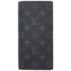 ルイヴィトン 財布 M61697 LOUIS VUITTON ヴィトン モノグラム・エクリプス LV メンズ ファスナー長札 長財布 ポルトフォイユ・ブラザ