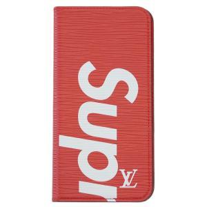 【中古】ルイヴィトン アクセサリー M67757 LOUIS VUITTON Supreme コラボ iPhoneケース カバー iPhone7+ ・フォリオ エピ iPhone7 Plus ACL114|kaitsukedoh