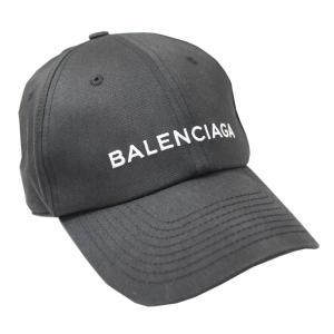 【中古】バレンシアガ 帽子 529192 BALENCIAGA ロゴ刺繍 ベースボールキャップ サイ...