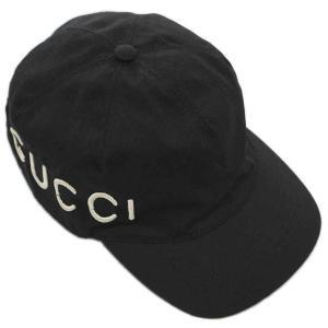 【中古 美品】グッチ 帽子 478948 GUCCI エンブロイダリー ベースボールキャップ L 59サイズ LOVE ブラック YJ3624|kaitsukedoh