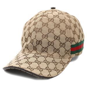 【中古 未使用】グッチ 帽子 200035 GUCCI シェリーライン GGキャンバス ベースボールキャップ XL 60サイズ ベージュ YJ3721|kaitsukedoh