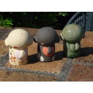 信楽焼 笑福地蔵 3体セット オブジェ |kaiun-manpei