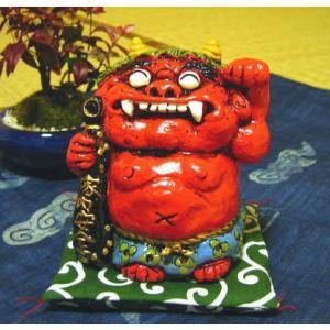 魔除 招き鬼 貯金箱 陶器 置物 オブジェ|kaiun-manpei