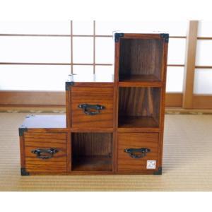 階段タンス 30cm ミニサイズ 階段箪笥|kaiun-manpei