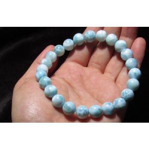 ラリマーブレスレット 数珠 Lサイズ 10mm NO.1 kaiunfusui