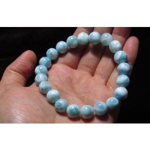 ラリマーブレスレット 数珠 Mサイズ 10mm NO.1 kaiunfusui