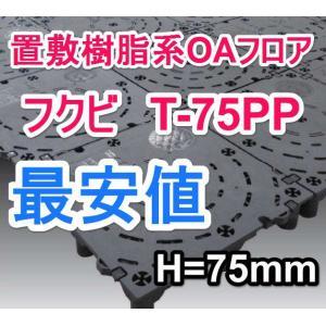 フクビOAフロアーT-75PP/置敷樹脂系OAフロア/250mm×250mm×高さH75mm/フリーアクセスフロア|kaiwakuukan