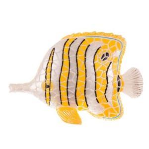 チョウチョウウオ モザイクタイル アート雑貨 置物 魚 グッズ |kaiyokobo