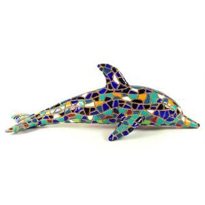 イルカ C モザイクタイル アート雑貨 置物 グッズ|kaiyokobo