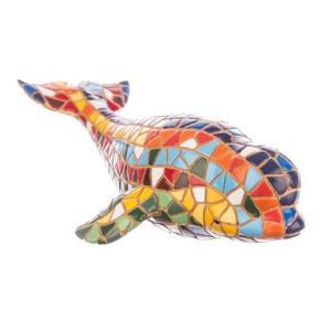ベルーガ(白イルカ) モザイクタイル アート雑貨 置物 グッズ|kaiyokobo